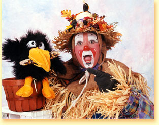 Photo of Patchy the Funny Fall Scarecrow.