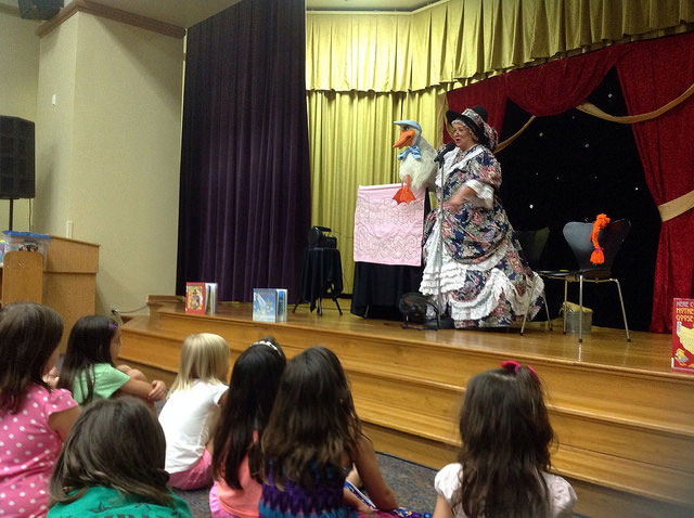 Mother Goose visits Farmers Branch Manske Library